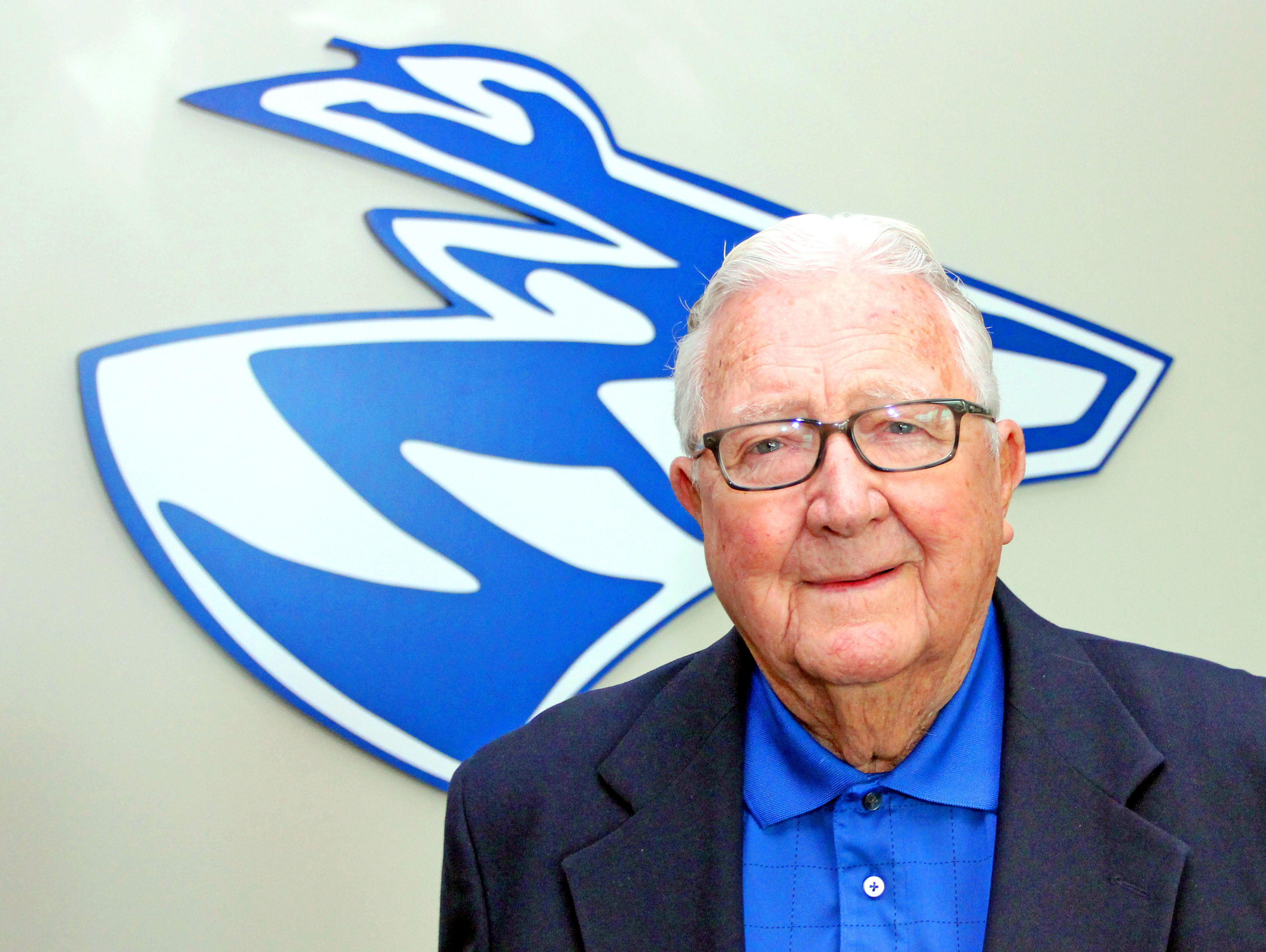 Longtime Kearney businessmen Bob Sahling has given $1.2 million to the University of Nebraska Foundation. The money will be used to provide scholarships to undergraduate students as well as student-athletes on the Loper football team. (Photo by Todd Gottula/UNK News)