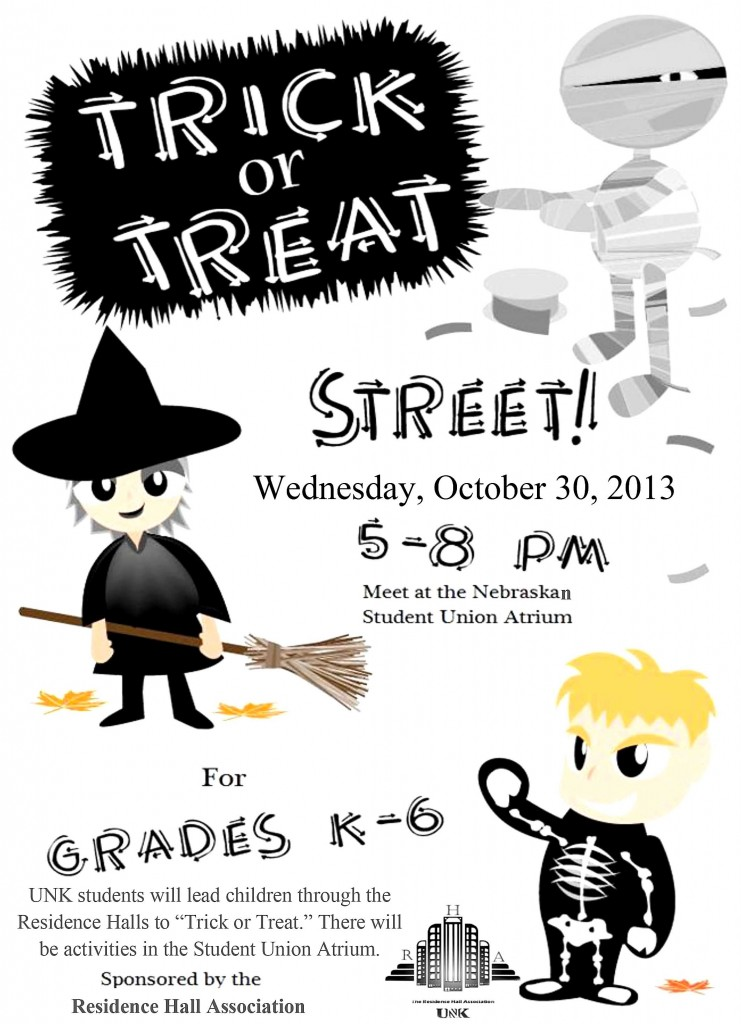 UNK Trick or Treat Street Flyer