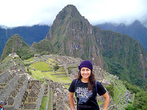 "Maria Rojas believes the study abroad program at UNK was a gateway to pursuing some lifetime dreams. ""I had two dreams come true during my experiences abroad; visiting the Great Wall of China and going to Machu Pichu."""