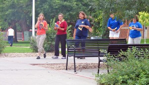 Aug. 7 Poker Walk allows employees to get active, get to know campus