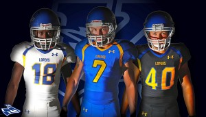 Lopers, Under Armour unveil football uniforms