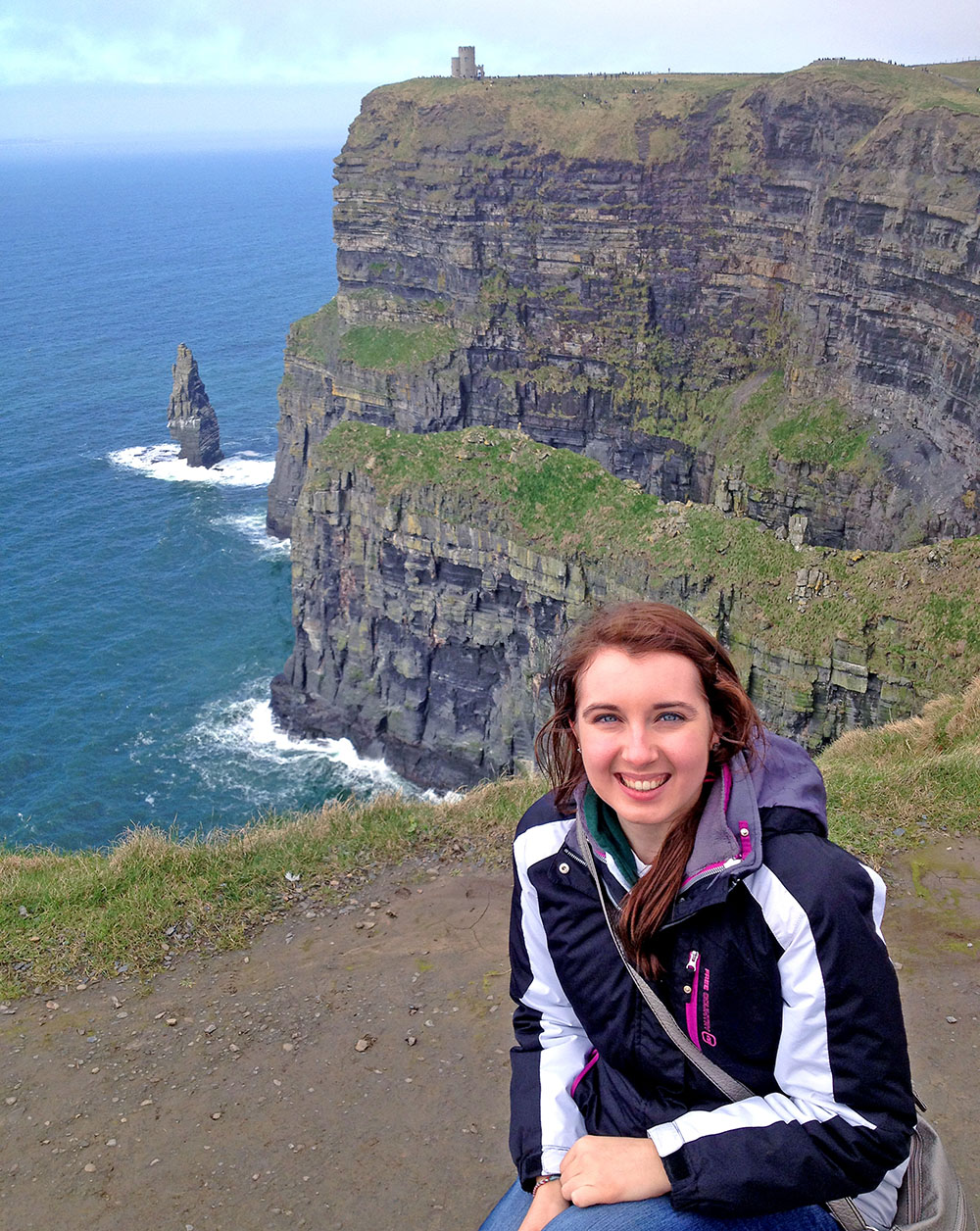 Jessica Albin at Cliffs of Moher in Ireland