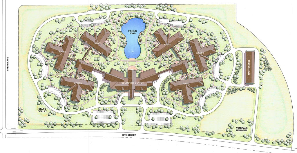 Central nebraska veterans home design includes work by Home site plan