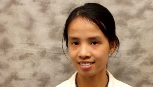 Nga Nguyen wins chemistry division at Student Research Showcase