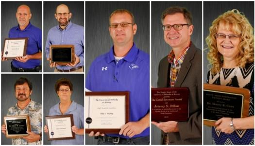 Geluso, Luscher, Crow receive prestigious Pratt-Heins Awards