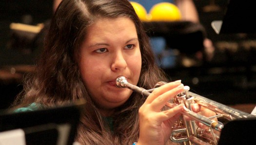 UNK trumpet player Morgan Sentelle selected for 2015 National Intercollegiate Band