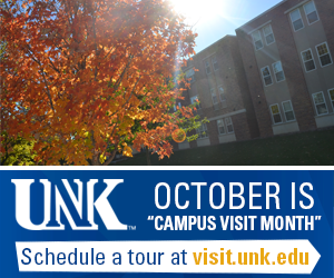 October is Campus Visit Month. Schedule a tour at visit.unk.edu.