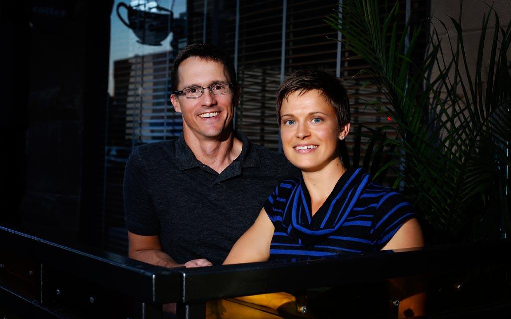 Bree Dority and her husband, Matt O'Callaghan.