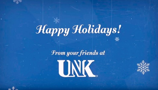 VIDEO: Happy Holidays from UNK