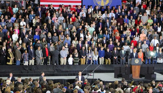 UNK students see president; find hope, positivity in Obama speech