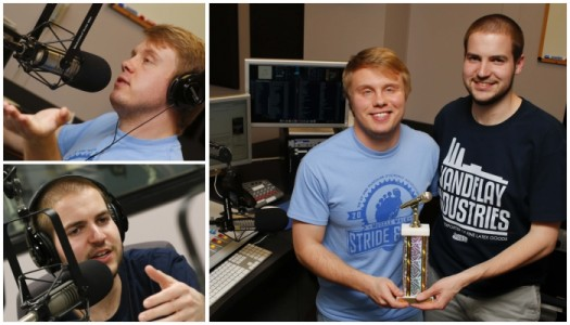 Broadcast students Hanson, Stevenson win national award for KLPR sports talk show