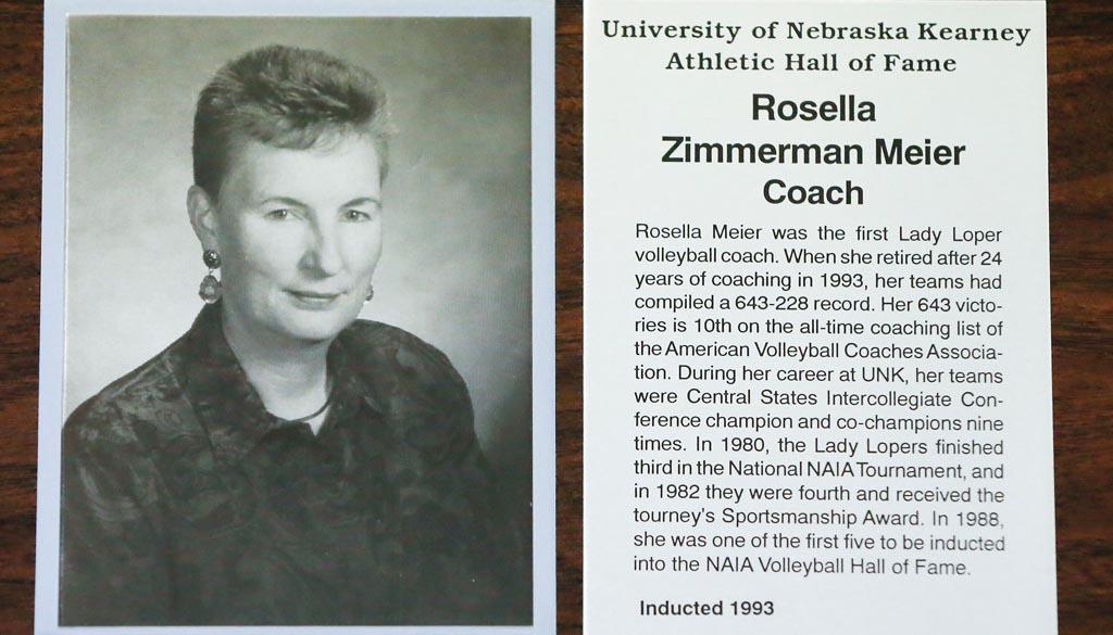 Rosella Meier Hall of Fame Plaque