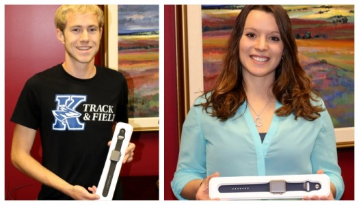 Hill, Hoffman winners of Apple Watches for taking NSSE survey