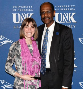 Outstanding Student Organization Adviser and Staff Member of the Year Brette Ensz, FIRST Leaders