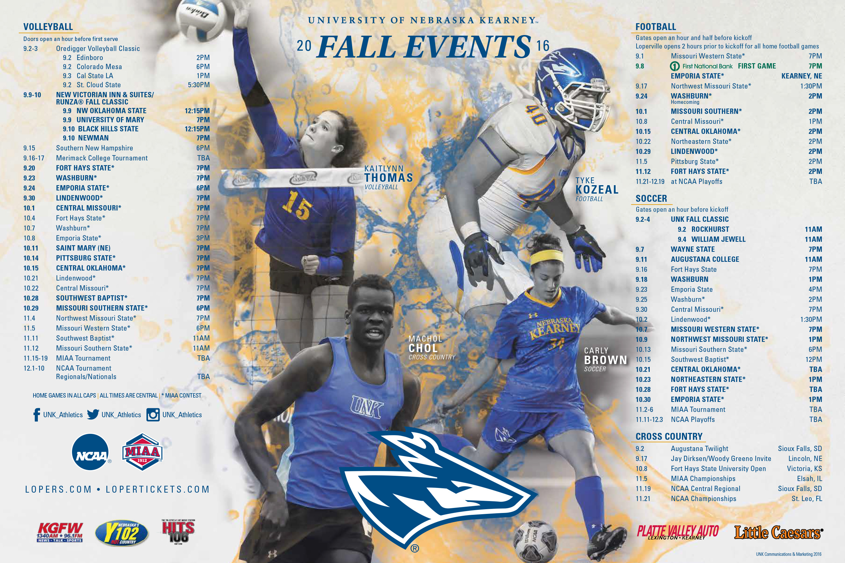 16-0802 - Athletics - 2016 Fall Schedule Poster-web