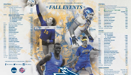 UNK Athletics Fall Schedules