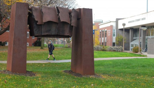 Sculptures donated by alumnus Shanahan installed at UNK