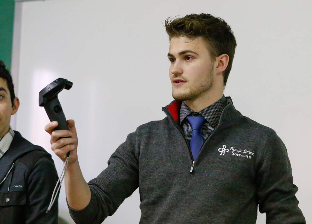 Sam Middleton, a senior applied computer science major from Kearney, created a virtual reality game with a group of his classmates.