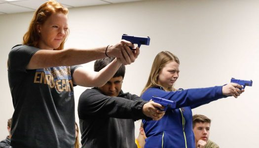 Terrorism class studies police reaction times, weapon use