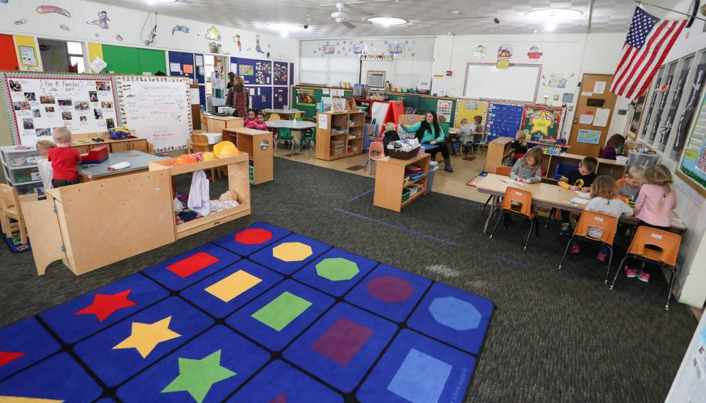 Today's Child Development Center at UNK serves 50 children of university faculty, staff and students, with a waiting list of 75. The new Early Childhood Education Center will have capacity for 152 children. (Photo by Corbey R. Dorsey/UNK Communications)