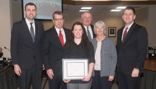 Amy Jacobson receives KUDOS award from NU Board of Regents