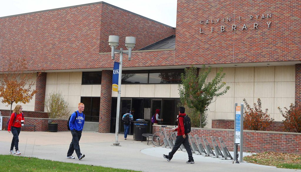 The Calvin T. Ryan Library was built in 1962 for $700,000. The last significant renovation to the library was completed in 1983. (Photo by Corbey R. Dorsey/UNK Communications)