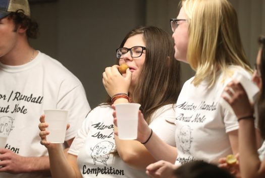 PHOTO GALLERY: Residence Life donut hole eating contest