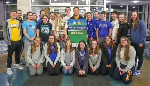 Students recycle 13,289 pounds of material during Recycle-Mania; Men's Hall wins competition
