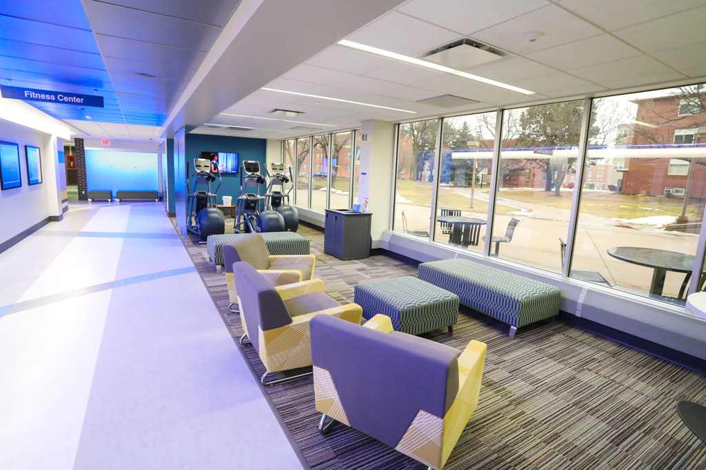 Areas on the east end of the first floor of the student union were renovated in 2015-16. The remainder of the first floor will be upgraded to match the design/décor of that first phase. (Photo by Corbey R. Dorsey/UNK Communications)
