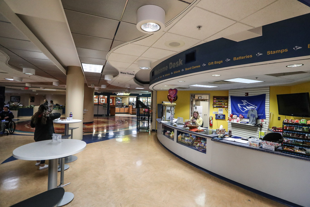 Proposed for the planned remodel of the Nebraskan Student Union food court area is a Chick-fil-A restaurant and fully-licensed Starbucks coffee shop. The existing Subway will remain. (Photo by Corbey R. Dorsey/UNK Communications)