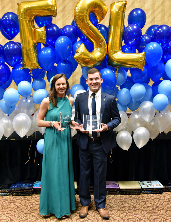 Luke Grossnicklaus of Aurora and Kylie Kenedy of Omaha are the University of Nebraska at Kearney's Greek Man and Woman of the Year.