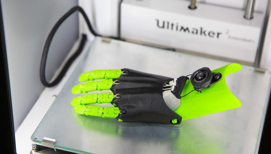 """Jorge Zuniga, assistant professor of biomechanics at the University of Nebraska at Omaha, designed the Cyborg Beast, a 3D-printed prosthetic hand, in 2014 and released the design online for free. The original design has been downloaded more than 50,000 times."""