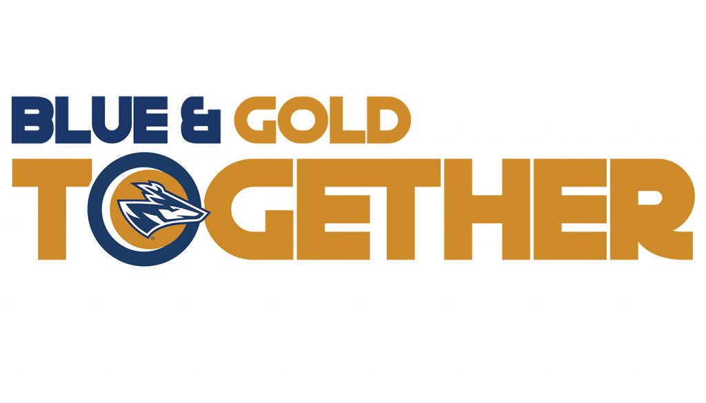 BLue Gold Welcome Logo