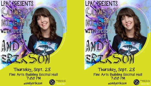 Comedian Andy Erikson to perform Thursday