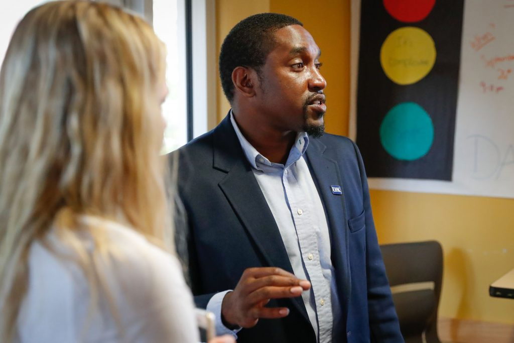 UNK's Office of Residence Life and Office of Multicultural Affairs hosted Piece by Piece on Wednesday. The event focused on diversity and issues facing today's students. (Photos by Corbey R. Dorsey, UNK Communications)