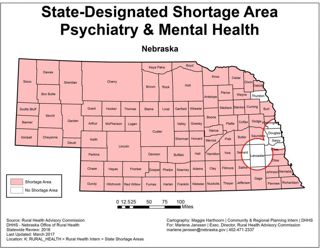 Social Work Shortage State Map