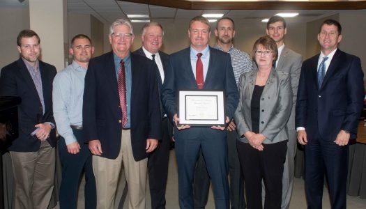 Dylan Evans receives KUDOS award from NU Board of Regents