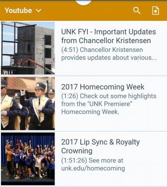 UNK Mobile App 3