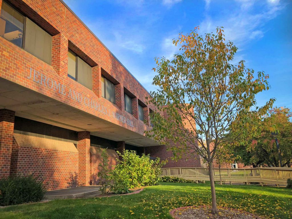 Built in 1978, the name Founders Hall has been changed to Jerome and Charles J. Warner Hall. On Thursday, UNK will unveil new signage and celebrate the building named after the former Nebraska political leaders and longtime university supporters.