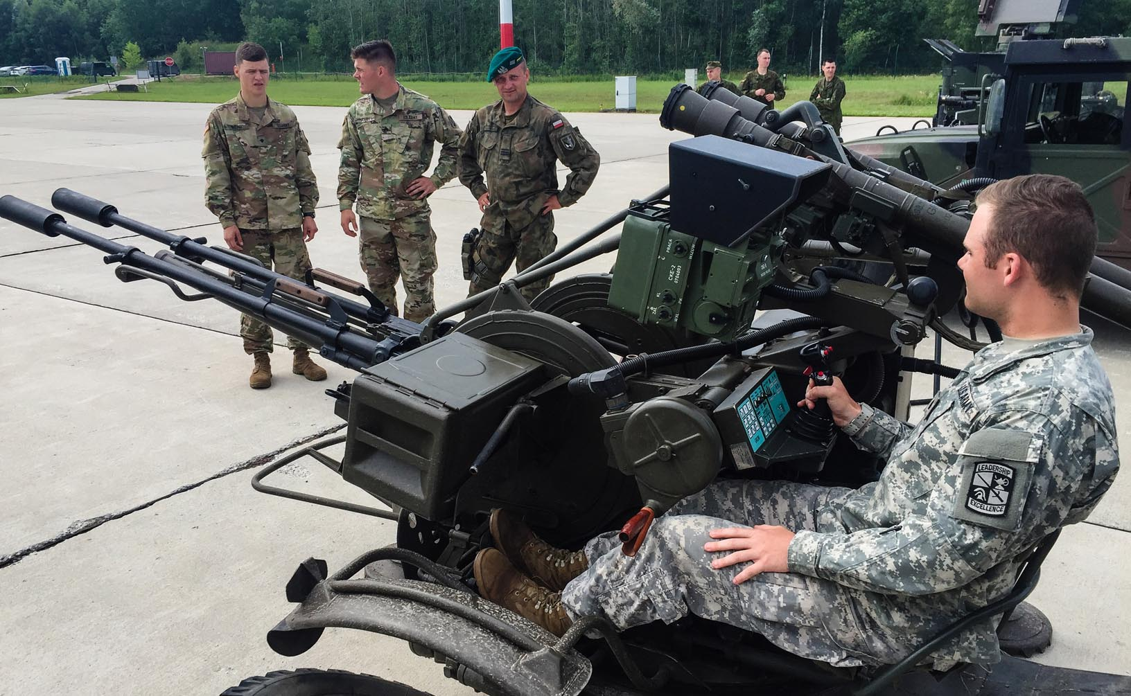 James Knights, a UNK business major from Bellevue, went to Germany in July and August, where he worked alongside officers at an air defense base.