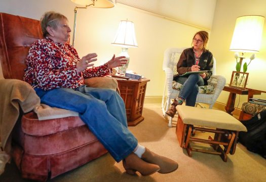 UNK social work class meets off campus to assess elderly