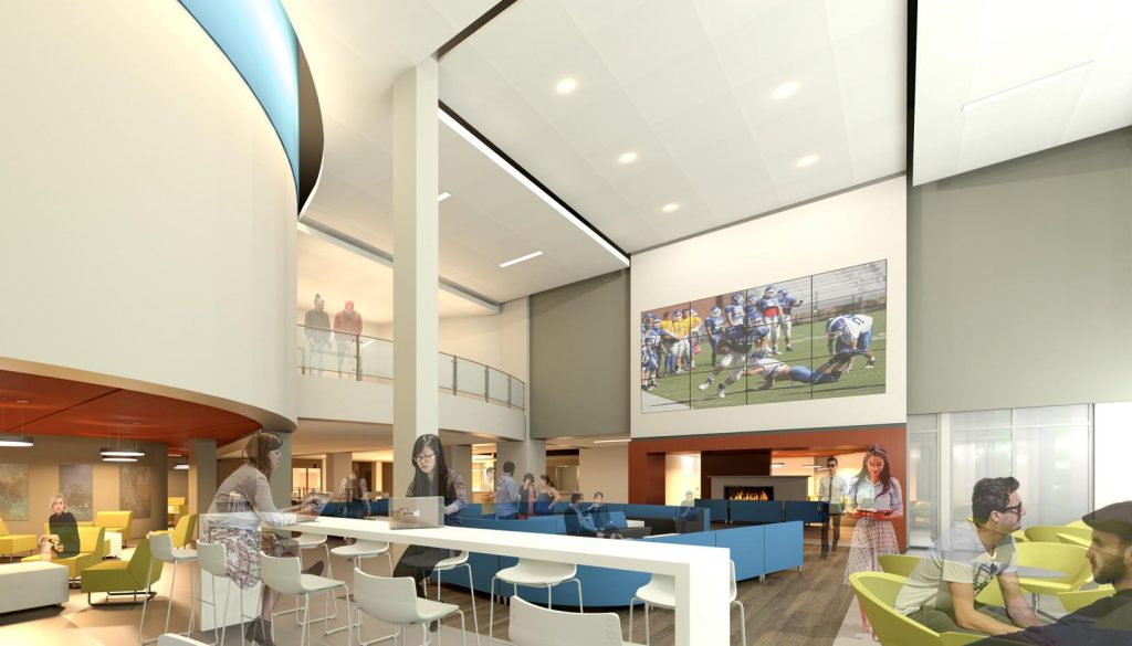 The second phase of UNK's Student Union renovation begins this spring and includes demolition of the food court and seating areas.