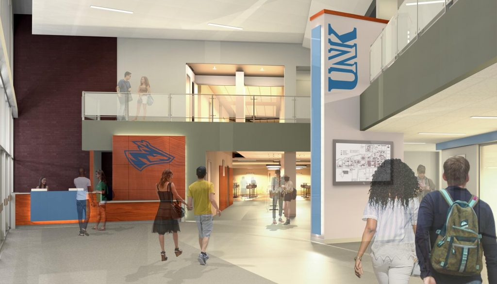 UNK begins its $6 million renovation of the Nebraskan Student Union Dec. 7. Chick-fil-A and Starbucks are being added to the food court as part of the project.