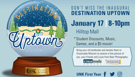 UNK, Hilltop Mall hosting Destination Uptown to welcome students