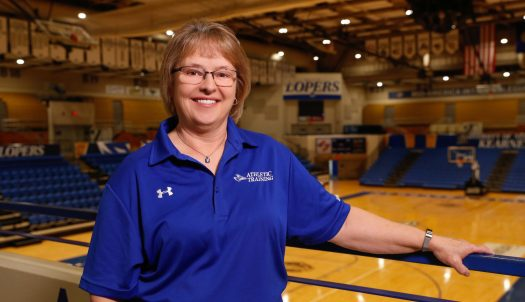 Kathy English recognized for contributions to women's athletics; Retiring after 37 years at UNK