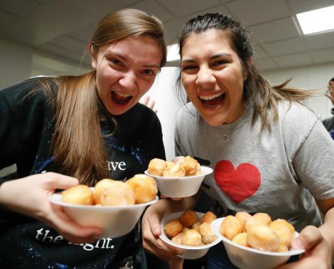 PHOTO GALLERY: Residence Life Community Assembly Night doughnut hole eating contest