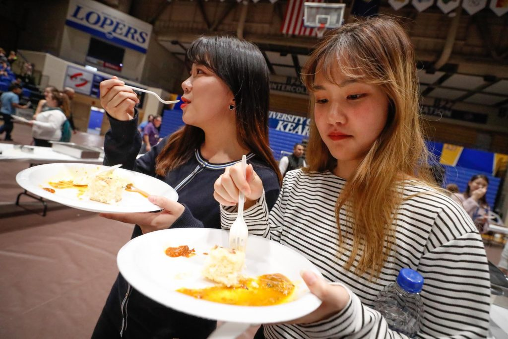 The University of Nebraska at Kearney's International Food and Cultural Festival Sunday celebrated diversity on campus and in Kearney through music, dance and a variety of dishes from across the world. (Photo by Corbey R. Dorsey, UNK Communications)