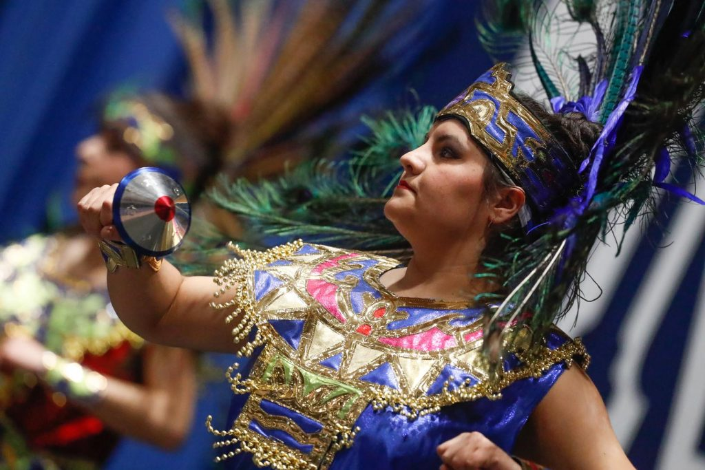 UNK student Ana Rodriguez performs at Sunday's International Food and Cultural Festival. (Photo by Corbey R. Dorsey, UNK Communications)