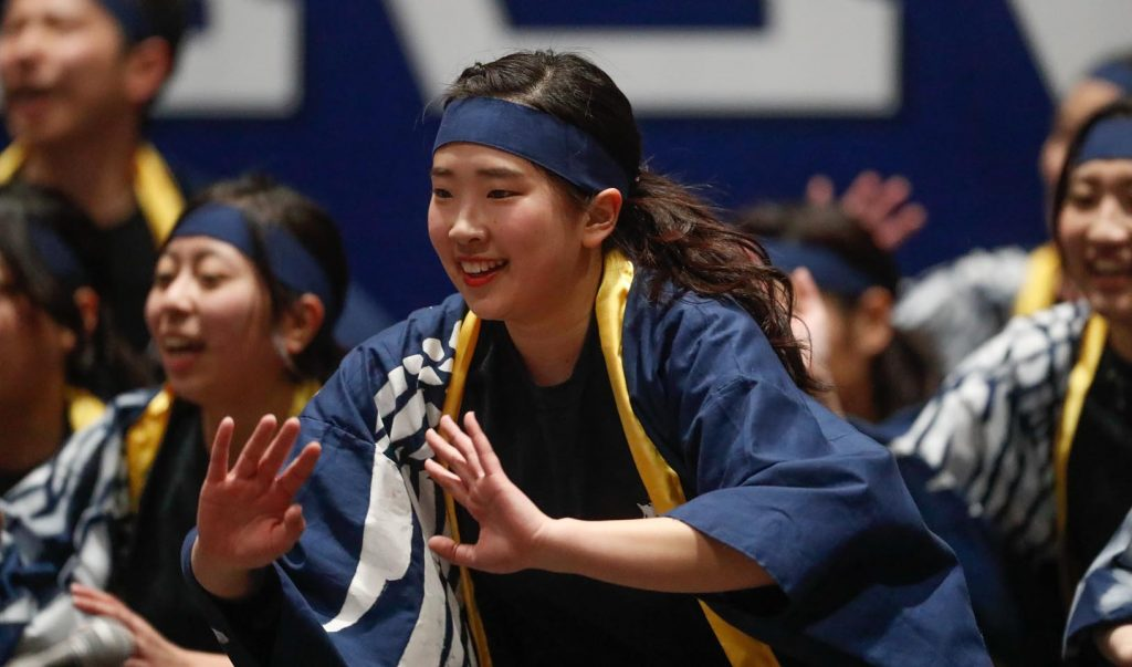 UNK student Emika Matsumoto performs at Sunday's International Food and Cultural Festival. (Photo by Corbey R. Dorsey, UNK Communications)