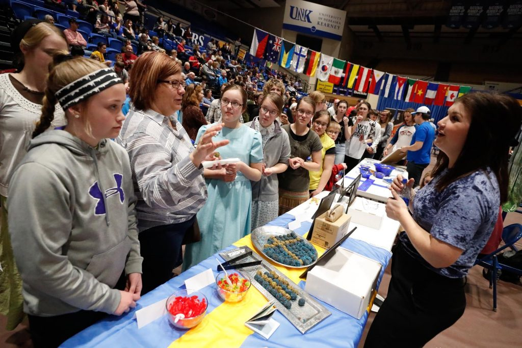 Nearly 2,500 people attended the University of Nebraska at Kearney's International Food and Cultural Festival on Sunday. The event started in 1977 and includes more than 150 student volunteers. (Photo by Corbey R. Dorsey, UNK Communications)